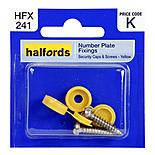 Halfords Number Plate Fixings - Yellow HFX241