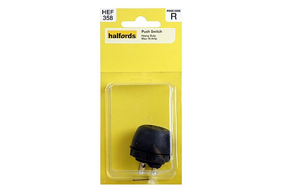 Halfords Heavy Duty Push Switch HEF358