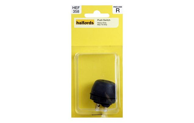 Halfords Heavy Duty Push Switch HEF - Relay Switch Halfords