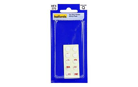 image of Halfords Tax Disc Holder Sticky Pads HFX375