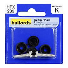 image of Halfords Number Plate Fixings HFX239