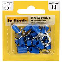 image of Halfords Ring Connectors 15 Amp 8mm HEF381