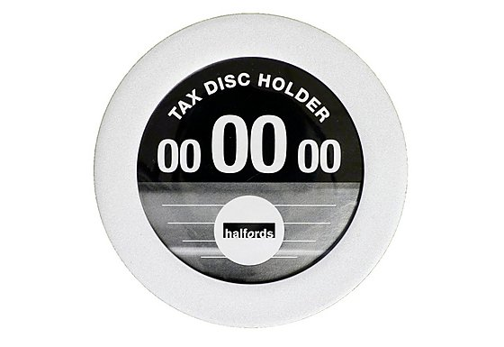 Halfords Tax Disc Holder - Silver