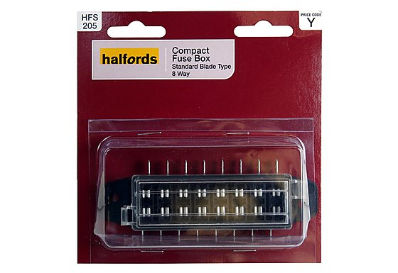 Halfords Compact Fusebox Standard 8 Way HFS205