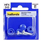 image of Halfords Number Plate Fixings - Blue HFX243