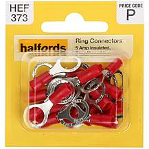 image of Halfords Ring Connectors 5 Amp Insulated 8mm HEF373