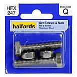 Halfords Set Screws and Nuts M8 x 40mm HFX247