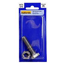 image of Halfords Set Screw and Nut M12x50mm HFX378