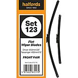 Halfords Set 123 Wiper Blades - Front Pair