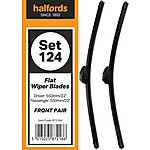 image of Halfords Set 124 Wiper Blades - Front Pair