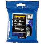 Halfords Sat Nav Wipes x15