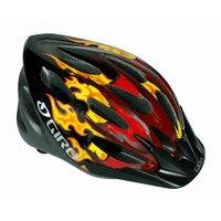 Giro Flume Bike Helmet - Red/Black Dragon Flames (50-57cm)