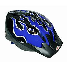 image of Bell Amigo Bike Helmet - Blue Flames (50-55cm)