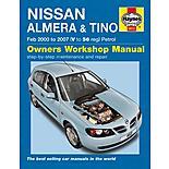 Haynes Nissan Almera & Tino (Feb 00 - 07) Manual