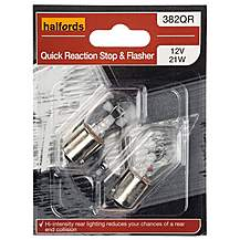 image of Halfords 382 P21W Quick Response Car Bulbs x 2
