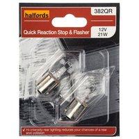 Halfords (HBU382QR) 21W Quick Response Car Bulbs x 2
