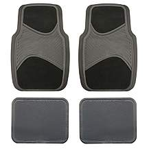 image of Halfords Carpet/Rubber Car Mats - Black