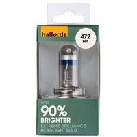 Halfords 472 H4 +90 Brighter Car Bulb x 1