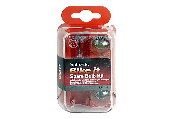 Halfords Bike it Motorcycle Spare Bulb Kit 12v H7