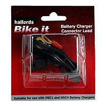 image of Halfords Bike it Motorcycle Battery Charger Connector Lead