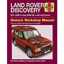 image of Haynes Land Rover Discovery (Nov 98 - Jul 04) Manual