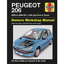 image of Haynes Peugeot 206 Petrol & Diesel (02 - 09) 51 to 59 Manual