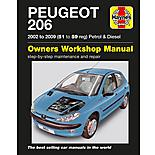Haynes Peugeot 206 Petrol & Diesel (02 - 09) 51 to 59 Manual