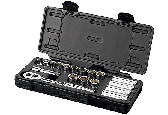 Halfords Advanced Professional 18 Piece Socket Set 3/8