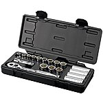 image of Halfords Advanced 18 Piece Socket Set 3/8""