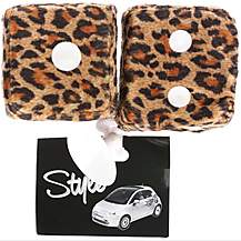 image of Leopard Print Furry Dice
