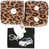 Leopard Print Furry Dice