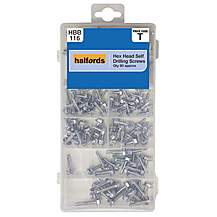 image of Halfords Assorted Hex Head Self Drill Screws