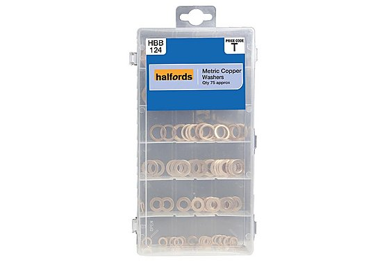 Halfords Assorted Copper Washers