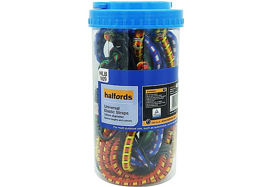 Halfords Assorted Luggage Straps 12 x 10mm