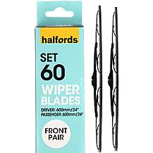 image of Halfords Set 60 Wiper Blades - Front Pair