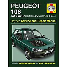 image of Haynes Peugeot 106 (91 - 02) Manual