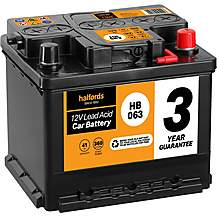 Halfords 3 Year Guarantee HB063 Lead Acid 12V