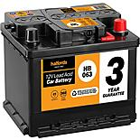 Halfords 3 Year Guarantee HB063 Lead Acid 12V Car Battery