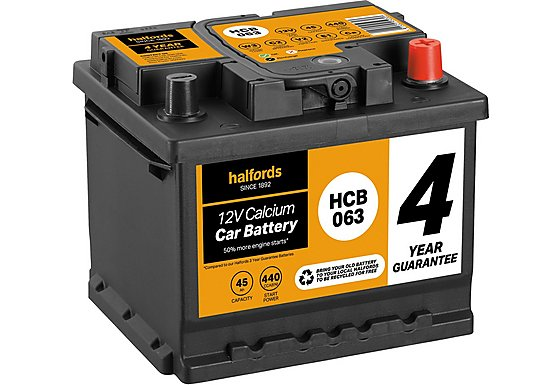 Halfords Calcium Battery HCB063 - 4 Yr Guarantee