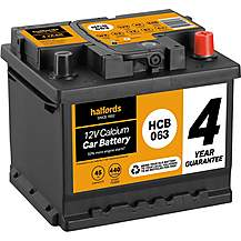 image of Halfords 4 Year Guarantee HCB063 Calcium 12V Car Battery