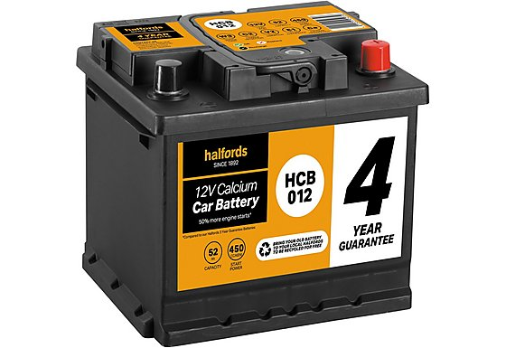 Halfords Calcium Battery HCB012 - 4 Yr Guarantee