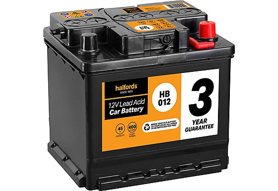 Halfords Lead Acid Battery HB012 - 3 Yr Guarantee