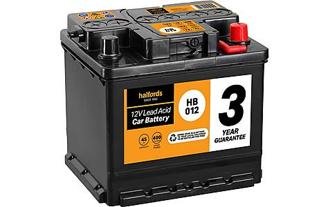 image of Halfords Lead Acid Battery HB012 - 3 Yr Guarantee
