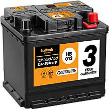 Halfords 3 Year Guarantee HB012 Lead Acid 12V