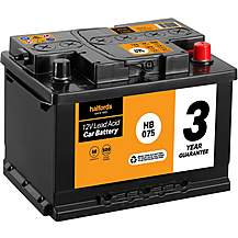 Halfords 3 Year Guarantee HB075 Lead Acid 12V