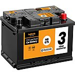 image of Halfords Lead Acid Battery HB075 - 3 Yr Guarantee