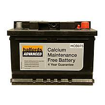 image of Halfords Calcium Battery HCB075- 4 Yr Guarantee