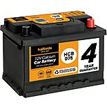 Halfords 4 year guarantee HCB075 Calcium 12V car battery