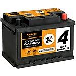 image of Halfords 4 year guarantee HCB075 Calcium 12V car battery