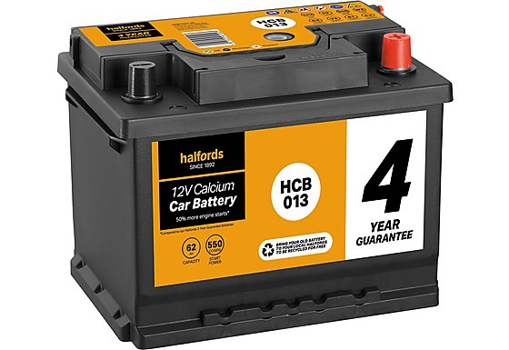 Halfords Calcium Battery HCB013- 4 Yr Guarantee